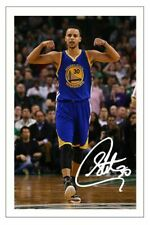 STEPH CURRY GOLDEN STATE WARRIORS AUTOGRAPH SIGNED 6x4 PHOTO PRINT BASKETBALL