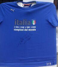 ALESSANDRO DEL PIERO SIGNED ITALY ITALIA WORLD CUP 2006 WINNERS PUMA SHIRT+PROOF