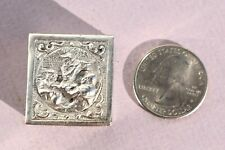 Antique Miniature Embossed Sterling Silver Pill Box Men Playing Music Holland