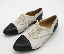 Made in Italy Women's Vintage Lario 1898 Leather Two Tone Oxfords Size 38