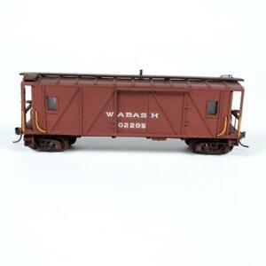 Custom Wabash WAB 02205 Wood Transfer Caboose Weathered HO Scale Model