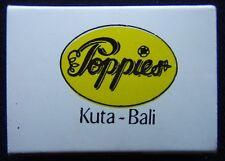 San Miguel Beer Poppies Bar Restaurant Kuta Bali Matchbox (Mx27)