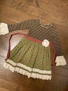 girls size 10 mustard pie dress euc
