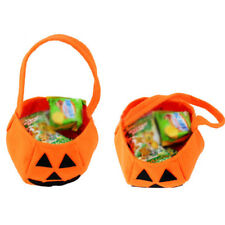 Halloween Party Pumpkin Trick or Treat Tote Bags Kids Child Candy Bag Toy New