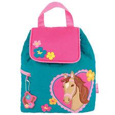 Stephen Joseph Quilted Girl Horse Backpack - Cute Toddler Preschool Bags