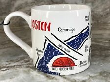Large 20 Ounce Coffee Mug. Map Quest Collection. Boston Landmarks. New.