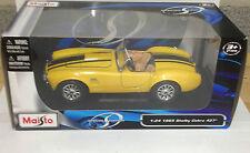 Maisto 1:24 1965 Shelby Cobra Diecast Model Car Yellow