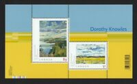 ART CANADA = DOROTHY KNOWLES Souvenir  Sheet of 2 stamps Canada 2006 #2148 MNH