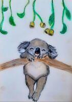 Koala ACEO- Original Painting - ATC Card