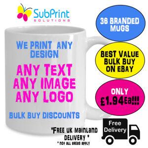 36 X Company Branded Business Promo Custom Coffee Mug,Any Image,Logo,text -