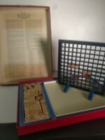 Vintage Scrabble Brand RSVP 3D Crossword Game 1970 1 Missing Letter Tile