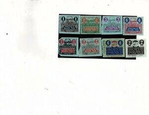 VENDOR STATE OF OHIO PREPAID SALES TAX RECEIPTS LOT OF 10 & vendor receipt (mb13