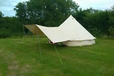 Large Canvas Bell Tent Awning 400 x 240 -2 pole By Bell Tent Boutique -NOT TENT