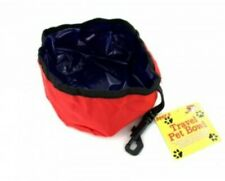 Collapsible Pet Dog Cat Foldable Travel Camping Food Water Feeder Bowl Dish New