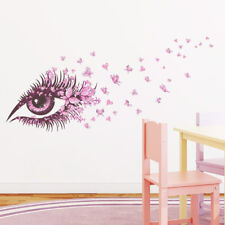 butterfly heart pink eye home decor wall stickers girl room decal mural flowe EB
