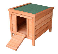 PawHut Wooden Rabbit Hutch 20.1'' Pet Habitat Cages Bunny Small Animal House New