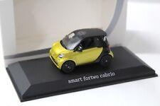 1:43 Norev Smart Fortwo Cabrio yellow/ black DEALER NEW bei PREMIUM-MODELCARS