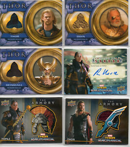 Marvels Thor - Autograph & Costume Relic Card Selection NM Upper Deck