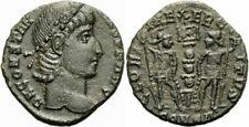 Constantius II Follis Constantinopolis 337-347 GLORIA EXERCITVS Soldaten RIC 27