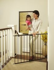 Safety Lock Gate Kids Toddler Dog Pet Stairs Barrier Extra Wide Tall Metal Grate