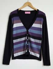 CHARLES TYRWHITT LADIES 100 %MERINO WOOL CARDIGAN SIZE M (MORE LIKE A S) UK 8-10