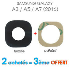 Lentille Vitre Cache Camera Appareil Photo Lens Samsung Galaxy A3/A5/A7 (2016)