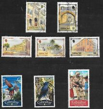 GIBRALTAR CARD OF 8 SG699-1299; NOT SEQUENTIAL; ALL GOOD/FINE USED.