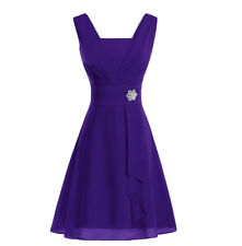 Short Chiffon Bridesmaid Dress Wedding Evening Formal Prom Party Ball Gown 6-22