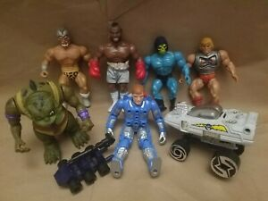 Masters Universe Vintage MOTU He man Action Figure Toys Clubber Lang Rocky 80s
