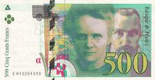 BILLET BANQUE 500 Frs pierre et marie CURIE 1994 TTB 433