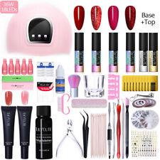 Arte de uñas Kit completo LED Lámpara Secador de Esmalte Gel UV Decoración Pegatina Conjunto de herramientas de Arte en Uñas