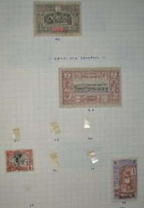 lot timbres classiques old classic stamps OBOCK Cote Française des Somalis