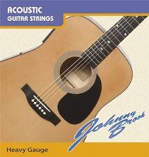 Steel Acoustic Guitar Strings - Heavy Gauge - Pack of 6 Strings