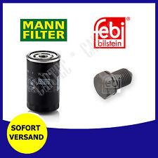 Mann-Filter Ölfilter W719/30 und Ölablaßschraube Audi Seat Skoda VW