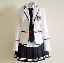 Korean Children Mixed Japaneses coat Color School Uniform Chic skirt suits Girls