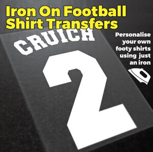 American Football Style Shirt, Iron On Transfer, Iron On Number, Iron On Name