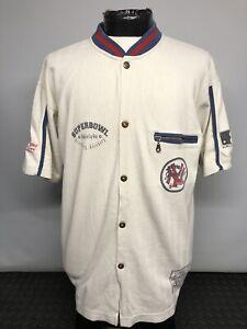 "New York Yankees MLB Vintage Baseball Jersey Shirt Campri XL 46"" Good Condition"