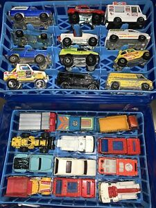 Vtg Lot of Hot Wheels Trucks - 1970's & 1980's 4x4 Emergency Construction & Case