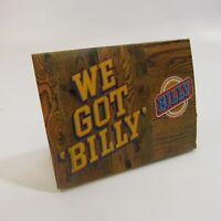 Vintage Billy Beer Placard Tabletop Sign We Got Billy Man Cave Barware Card