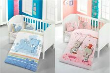 Baby Crib Nursery Bedding Set | Sheet, Duvet Cover, Pillow Cases | Boys & Girls