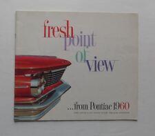 1960 Pontiac Brochure Bonneville Star Chief Vista Ventura Vintage Original
