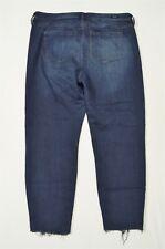 Liverpool 33 / 16 High Rise Ankle Skinny Fray Hem Dark Wash Stretch Denim Jeans