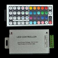 DC 12V 12A 24A RGB 44 Key IR Remote Controller LED SMD 5050 3528 Strip Light #US