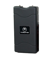 VIPERTEK Stun Gun Self Defense Black 330BV w/ LED Flashlight + Case