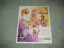 1988 Milwaukee Bucks Kareem Abdul Jabbar Basketball Poster Los Angeles Lakers