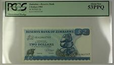 1983 Zimbabwe Reserve Bank $2 Dollars Note SCWPM# 1b PCGS About New 53 PPQ