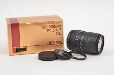 MINT BOXED SIGMA DL AF 100-300mm f4.5-6.7 LENS FOR PENTAX AF MOUNT, BONUS UV