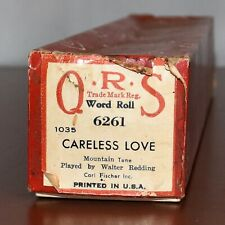 QRS Word Roll Piano Roll 6261 Careless Love Mountain Tune Played by W Redding