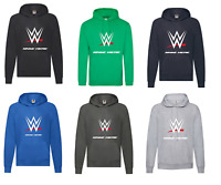 Personalised Boys Girls WWE Wrestling Smackdown RAW Hoodie Jumper Gift Present