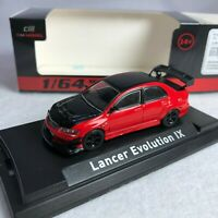 1/64 CM Model Mitsubishi Evolution IX Red / Black Diecast HECM2019002